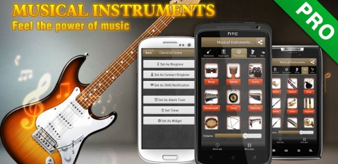 Musikinstrument Spelare och Ringsignaler