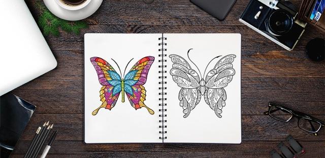 Målarbilder Fjäril för Vuxna
